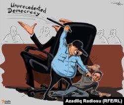 Analoqu olmayan demokratiya. Karikatura.