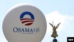 Balon sa natpisom 'Obama 08' u Berlinu, 23. jul2008.
