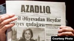 """""""Azadlıq"""" qəzetinin bir nömrəsi"""