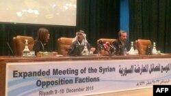 Сирия оппозициясынын Эр-Риядда өткөргөн маалымат жыйыны. 10-декабрь, 2015-жыл