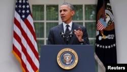 Президент Барак Обама Ооганстандан америкалык аскерлерди чыгарып кетүү планын жарыя кылууда. Ак Үй, 27-май 2014