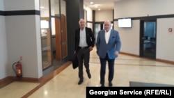 Зураб Абашидзе и Григорий Карасин на переговорах в Праге