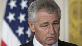 President Barack Obama's nominee for U.S. Defense Secretary Chuck Hagel (file photo)