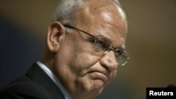 Saeb Erekat, the Palestinian Authority's chief negotiator (November photo)