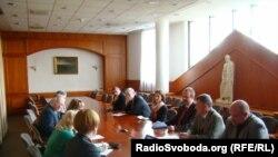Встреча украинских журналистов в МИД Венгрии, 31 марта 2014 года