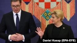 Političari s obje strane najodgovorniji su za sadašnje pogoršanje: Aleksandar Vučić i Kolinda Grabar Kitarović