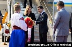 Президент України Володимир Зеленський (посередині) під час візиту до Канади, 2 липня 2019 року