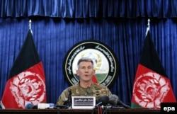 Генерал Джон Ніколсон повідомляє в Кабулі про використання бомби, 14 квітня 2017 року