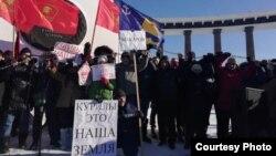 Народный сход в Южно-Сахалинске против передачи Курильских островов Японии, 19 января 2019 год