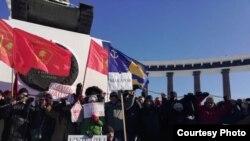 Народный сход в Южно-Сахалинске против передачи Курильских островов Японии