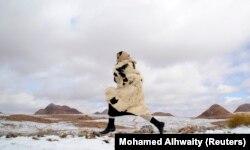 Снегопад в Саудовской Аравии. Январь 2015 года