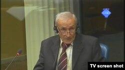 Svjedok Sulejman Crnčalo u sudnici, 28. rujna 2012.