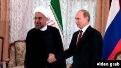 حسن روحانی، رئیس جمهور ایران و ولادیمیر پوتین، رئیس جمهور روسیه