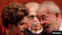 Бразилиянын мурдагы президенттери Дилма Русеф жана Лула да Силва.