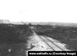 Железная дорога на Эхаби. 40-е гг.