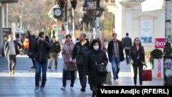 Zaštitna maska na ulicama Beograda, 16. mart
