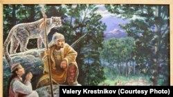 Фото картины художника из Петропавловска Валерия Крестникова «Юность Аблая», которая стала предметом судебной тяжбы. Фото предоставлено автором картины. Петропавловск, февраль 2011 года