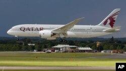 """""""Qatar Airways"""" авиаширкатига тегишли Boing 787учоғи"""