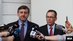 Вршителот на должноста заменик-помошник државен секретар на САД за Европа и Евроазија Метју Палмер и американскиот