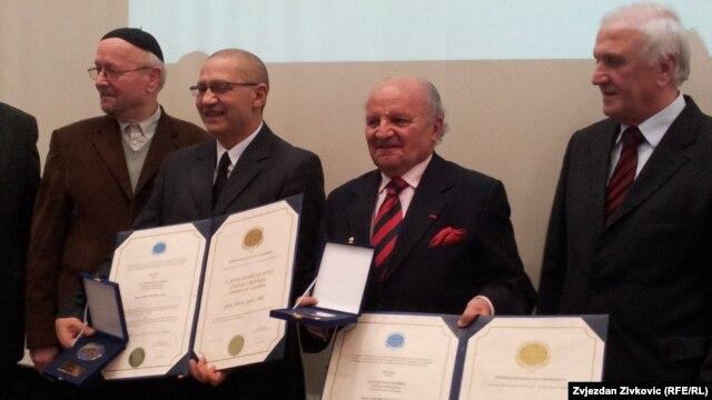 Dervo Sejdić i Jakob Finci na dodjeli nagrada, 29. januar 2013.