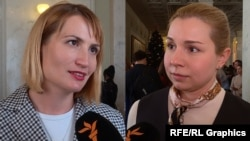 Ольга Стефанишина та Анастасія Красносільська (комбіноване фото)