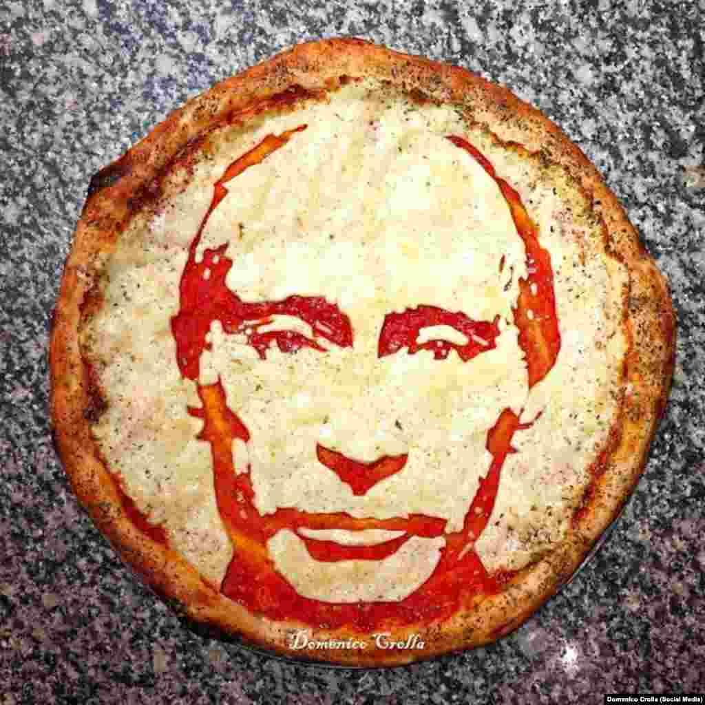 Британский шеф-повар из Глазго делает пиццы с изображением известных личностей. Одну он сделал и с Владимиром Путиным