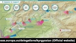 Каражат Кыргызстан, Тажикстан жана Өзбекстандагы жети объектке берилет.