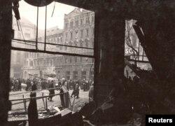 Будапешт. Фото зроблене під час Угорської революції в період між 23 жовтня і 4 листопада 1956 року
