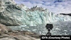 Выводной ледник в Гренландии