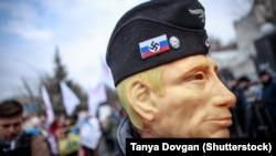 Акция в поддержку Савченко у российского консульства в Киеве 9 марта 2016 года