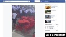 Uzbekistan - Screenshot from Facebook. Mass scuffle at a school