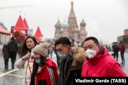 Китайские туристы в Москве. 29 января 2020 года