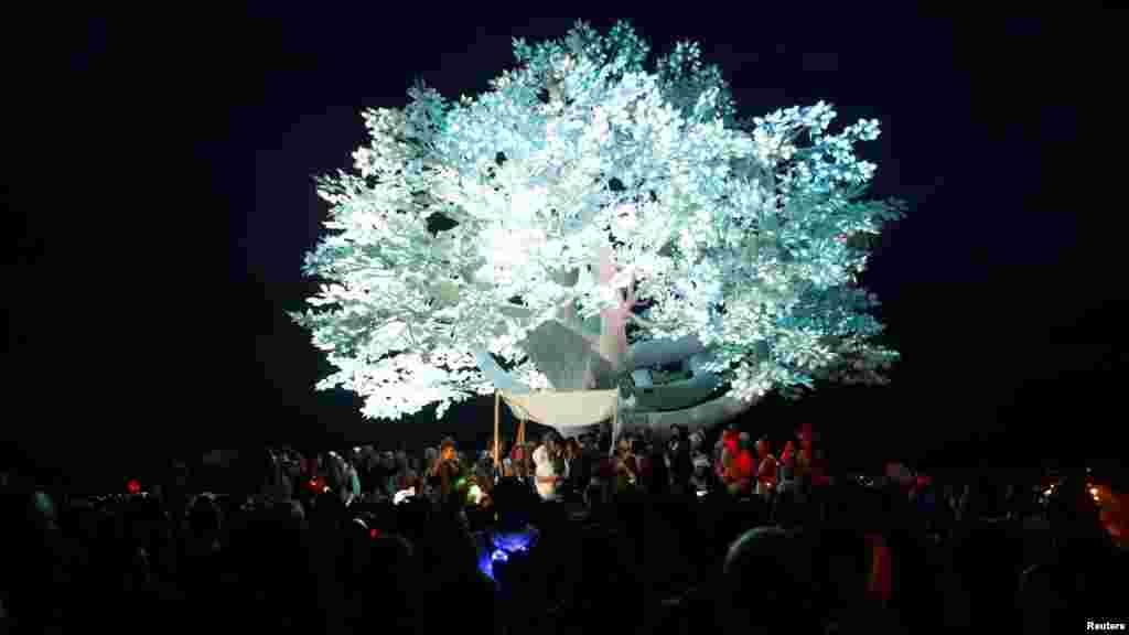 Свадьба под инсталляцией Tree of Tеnеrе