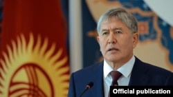 Қырғызстан президенті Алмазбек Атамбаев. 30 наурыз 2016 жыл.