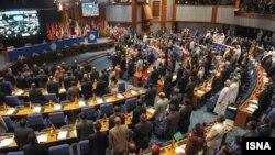 نمایی از نشست کارشناسان کشورهای شرکت کننده در اجلاس غیرمتعهدها