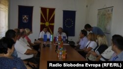 Од средбата меѓу градоначалниците на Старо Нагоричане и Добровник, Миодраг Јовановиќ и Марјан Кардинар.