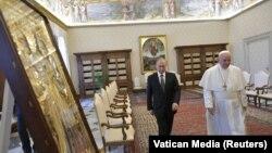 Владимир Путин и папа римский в Ватикане, 4 июля 2019 г.