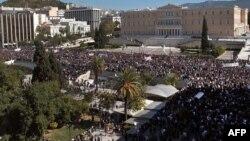 Greqi - Mijëra njerëz protestojnë para parlamentit grek, 17Korrik2013