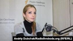 Дочь Юлии Тимошенко Евгения в московской студии Радио Свобода, 11 ноября 2011