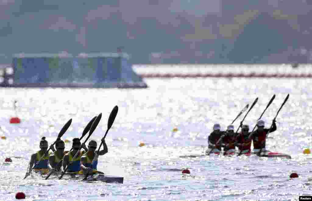 Украинскому экипажу байдарки-четверки в гребле на байдарках и каноэ в составе Марии Повх, Светланы Ахадов, Анастасии Тодоровой и Инны Грищун на 500-метровке не удалось подняться на подиум Рио-2016. В финале они финишировали четвертыми