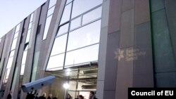 Վարշավայի «Կոպեռնիկոս» գիտական կենտրոնը, որտեղ անցկացվում է Արեւելյան գործընկերության գագաթնաժողովը, 29-ը սեպտեմբերի, 2011թ.