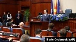 """Predsednik Stevo Pendarovski na sednici parlamenta poručio je da se sada, kada Severna Makedonija i formalno postaje trideseta država članica NATO-a, """"odgovornost povećava, a reforme ne staju"""""""