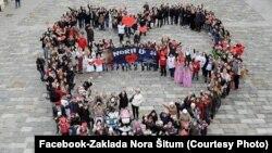 Sa jedne od akcija podrške maloj Nori, Varaždin, foto sa Facebooka