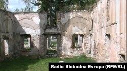 Џамијата во Прилеп, што беше опожарена за време на конфликтот во 2001 година.