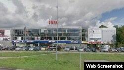 Шопинг центарот во Рига пред уривањето на покривот