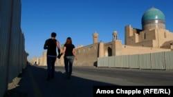 A young Uzbek couple in Bukhara
