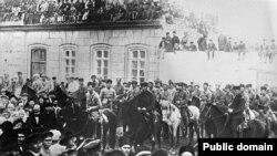 XI Qırmızı Ordu əsgərləri Bakıda - 1920-ci il
