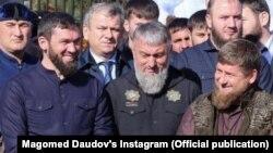 Магомед Даудов, Адам Делимханов, Рамзан Кадыров (слева направо)