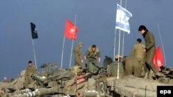 نیروهای ارتش اسرائیل مستقر در نوار غزه در خلال جنگ ۲۲ روزه