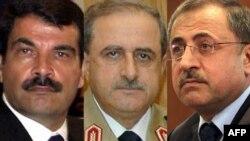 Partlamada Siriýanyň goranmak ministri Daud Rajhan (ortada), goranmak ministriniň orunbasary Assef Şawkat (çepde) heläk boldy, içeri işler ministri Ibrahim al-Şaar (sagda) agyr ýaralandy.